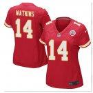 Women's KC chiefs #14 Sammy Watkins game jersey red