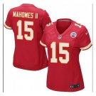 Women's KC Chiefs #15 Patrick Mahomes game jersey red