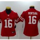 Women's Joe Montana Jersey #16 San Francisco 49ers Football Player Jerseys Red