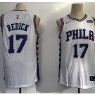 Men's Philadelphia 76ers 17# JJ Redick Basketball Jersey White