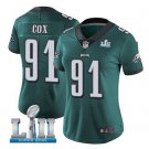 Women's Philadelphia Eagles #91 Fletcher Cox football jersey green