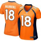 Women's Denver Broncos #18 Peyton Manning Orange Limited football Jersey