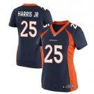Women's Danver Broncos #25 Chris Harris JR blue fashion jersey