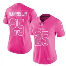 Women's Danver Broncos #25 Chris Harris JR pink fashion jersey