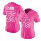 Women's Denver Broncos 55 Bradley Chubb jersey pink fashion
