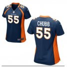 Women's Denver Broncos 55 Bradley Chubb jersey navy blue