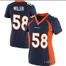 Women's Danver Broncos #58 Von Miller game jersey blue