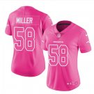 Women's Danver Broncos #58 Von Miller game jersey pink fashion