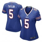 Women Bufflo Bills #5 Tyrod Taylor biue fashion jersey