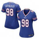 Women's Buffalo Bills #98 Star Lotulelei jersey blue
