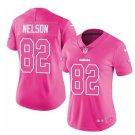 Women's Raiders #82 Jordy Nelson pink fashion jersey