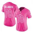 Women's Steelers #78 Alejandro Villanueva football jersey pink