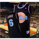 Men's Big dunk #6 LEBRON JAMES Black Jersey Throwback