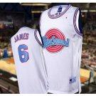 Men's Big dunk #6 LEBRON JAMES White Jersey Throwback