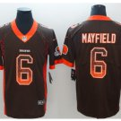 Men's Browns 6 Baker Mayfield drift fashion color rush Jersey
