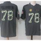 Men's Steelers #78 Alejandro Villanueva salute to service jersey olive