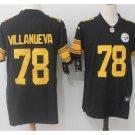 Men's Steelers #78 Alejandro Villanueva color rush Limited jersey black
