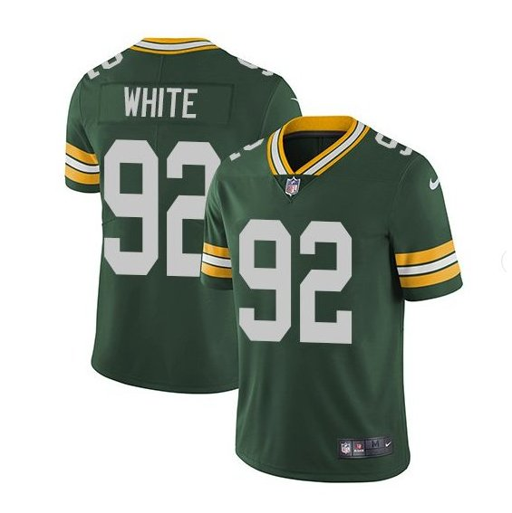 Men's Reggie White Packers 92 color rush Limited jersey green