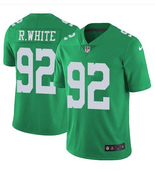 Men's Reggie White Eagles 92 color rush Limited jersey green