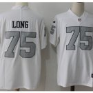 Men's Oakland Raiders 75 Howie Long color rush Limited jersey white