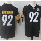 Men's Steelers #92 James Harrison color rush Limited jersey black