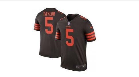 Men's Browns #5 Tyrod Taylor color rush Limited jersey brown