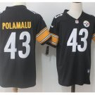 Men's Steelers #43 Troy Polamalu color rush Limited jersey black