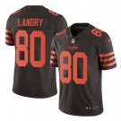 Men's Browns #80 Jarvis Landry color rush Limited jersey brown