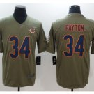 Men's Chicago bears #34 Walter Payton salute to service jersey olive