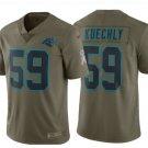 Men's Panthers #59 Luke Kuechly salute to service jersey olive