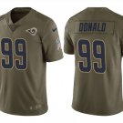 Men's Rams #99 Aaron Donald salute to service limited jersey olive