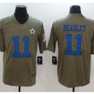 Men's Cowboys 11 Cole Beasley salute to service jersey olive