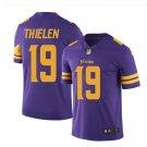 Men's Vikings #19 Adam Thielen color rush Limited jersey purple