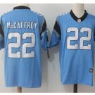 Men's Panthers 22 Christian Mccaffrey color rush limited jersey blue