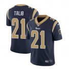 Men's Rams 21 Aqib Talib color rush limited jersey navy blue