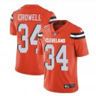 Mens Cleveland Browns #34 Isaiah Crowell color rush Limited Jersey orange