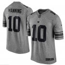 Men's NY Giants #10 Eli Manning gridiron gray Limited jersey