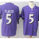 Men's baltimore Ravens #5 Joe Flacco color rush limited jersey purple