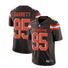 Men's Cleveland Browns #95 Myles Garrett color rush Limited Jersey brown