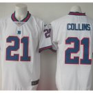 Men's Giants 21 Landon Collins color rush Limited jersey white