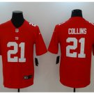 Men's Giants 21 Landon Collins color rush Limited jersey red