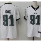 Men Philadelphia Eagles #91 Fletcher Cox color rush Limited jersey white