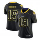Mens Vikings #19 Adam Thielen black color rush limited lights out jersey