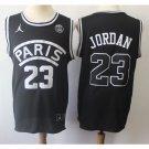 Men's jordan psg basketball jersey black - FREE SHIPPING