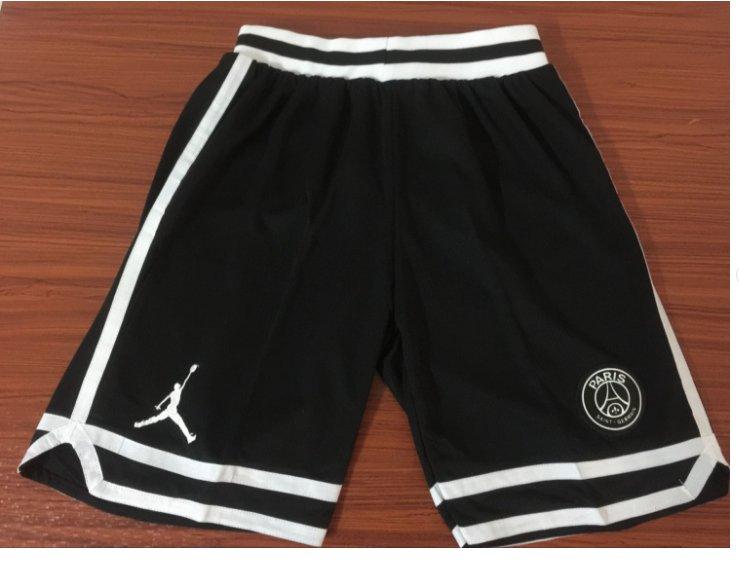Men's New Paris Jordan Icon Swingman Basketball Shorts Black