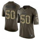 Men's KC Chiefs #50 Justin Houston salute to service jersey green camo