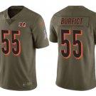 Men Cincinnati Bengals #55 Vontaze Burfict salute to service jersey olive