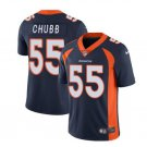 Men's Broncos #55 Bradley Chubb color rush Limited jersey navy blue