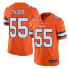 Men's Broncos #55 Bradley Chubb color rush Limited jersey orange