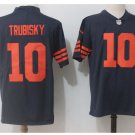 Men's Chicago bears #10 Mitchell Trubisky color rush Limited jersey navy